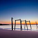 Sunset at Cat Bay Phillip Island, Victoria, Australia by Ben  Cadwallader