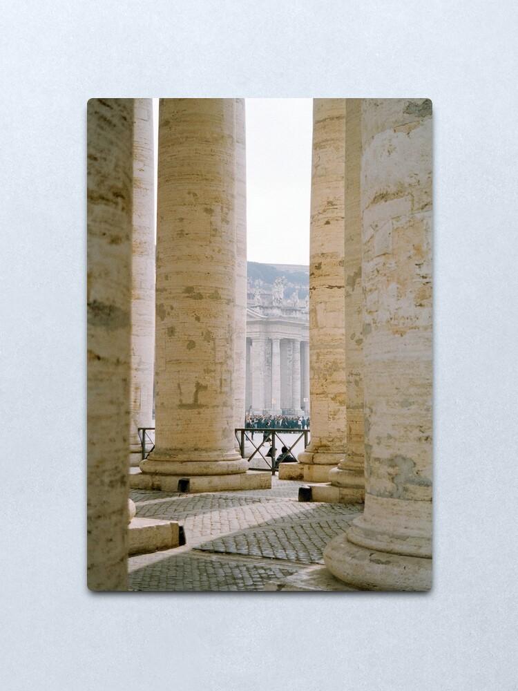 Alternate view of Colonnade, St Peter's Metal Print