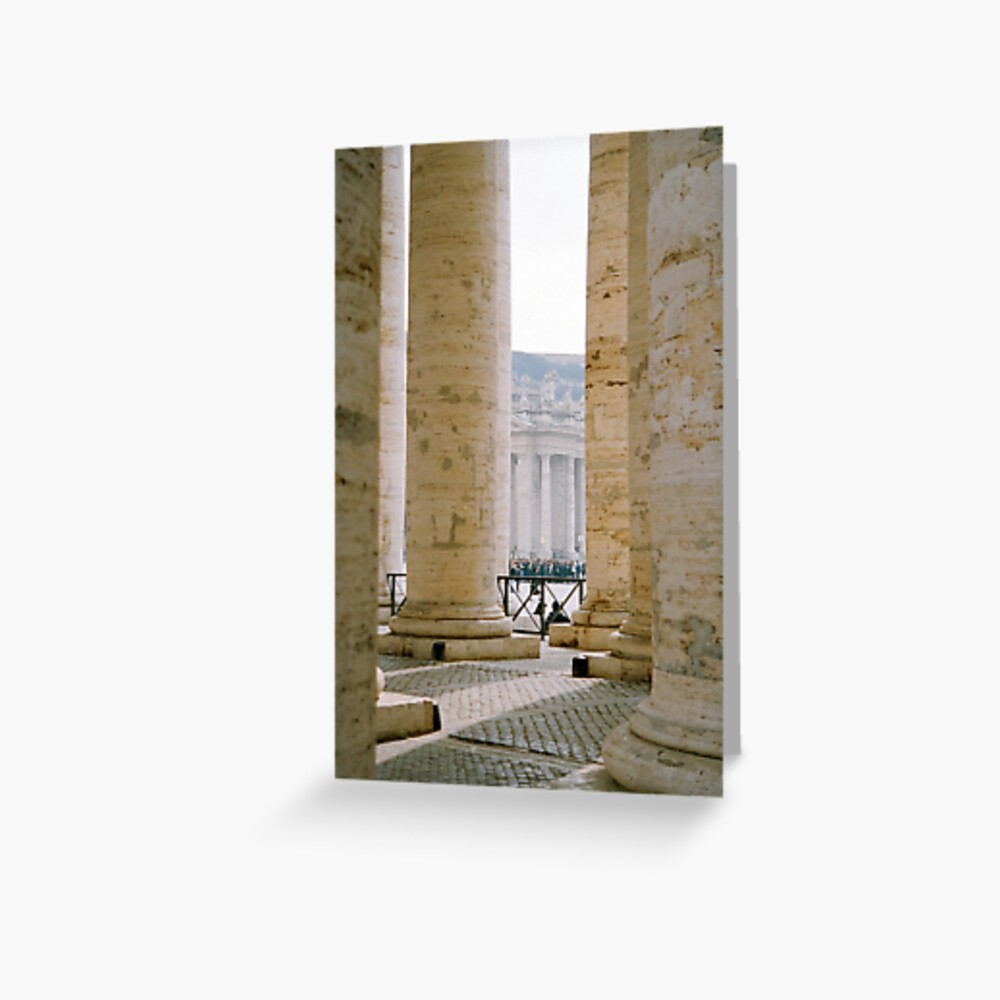 Colonnade, St Peter's Greeting Card