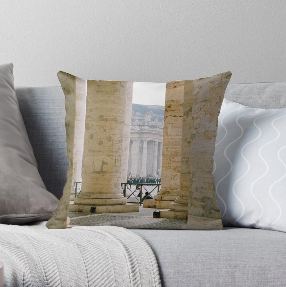 Colonnade, St Peter's Throw Pillow