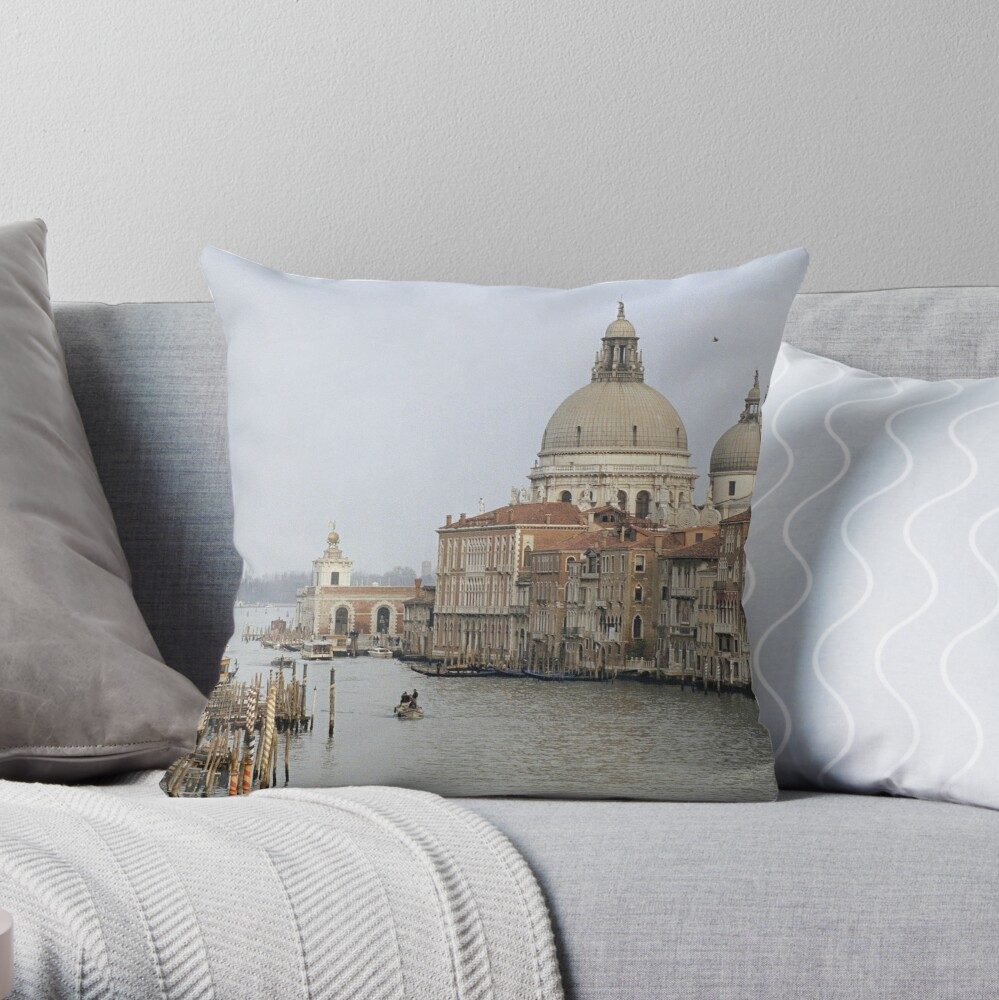 The Picture Postcard Venice Throw Pillow