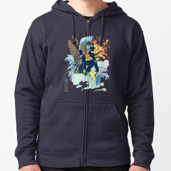 Two Avatars Zipped Hoodie