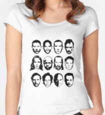Prison Break- Michael, Sucre, Lincoln, T-bag, Sara, C-note, Abruzzi, Tweener, Haywire, Mahone, Bellick & Kellerman Women's Fitted Scoop T-Shirt