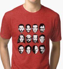Prison Break- Michael, Sucre, Lincoln, T-bag, Sara, C-note, Abruzzi, Tweener, Haywire, Mahone, Bellick & Kellerman Tri-blend T-Shirt