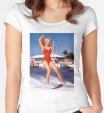 Gil Elvgren Appreciation T-Shirt no. 12. Women's Fitted Scoop T-Shirt