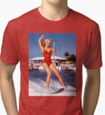 Gil Elvgren Appreciation T-Shirt no. 12. Tri-blend T-Shirt