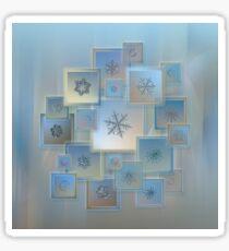 Snowflake collage - Bright crystals 2012-2014 Sticker