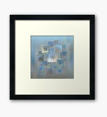 Snowflake collage - Bright crystals 2012-2014 Framed Print