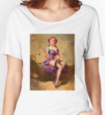 Gil Elvgren Appreciation T-Shirt no. 15. Women's Relaxed Fit T-Shirt