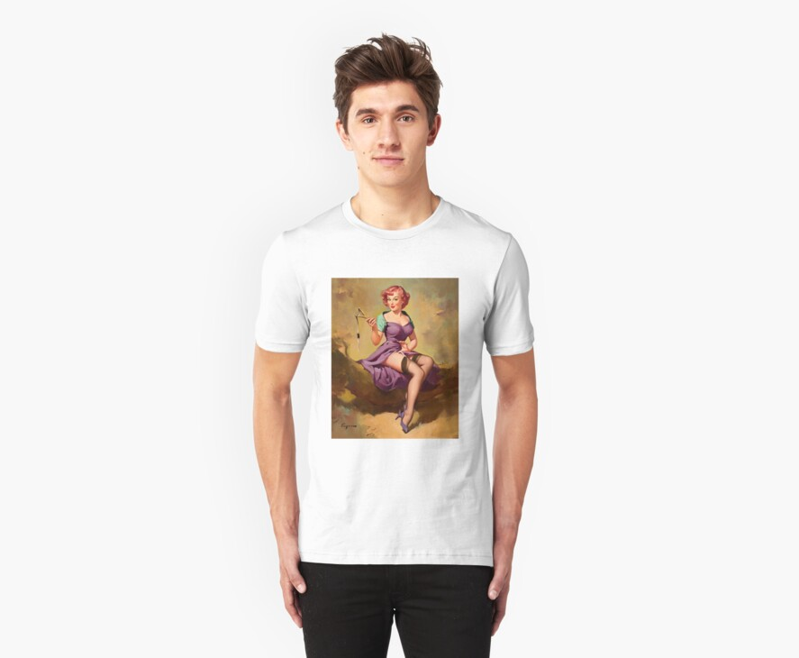 Gil Elvgren Appreciation T-Shirt no. 15. by masspleasurestv