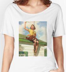 Gil Elvgren Appreciation T-Shirt no. 16. Women's Relaxed Fit T-Shirt