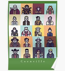 Coenville (w/ white lettering) Poster