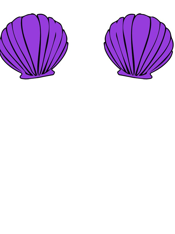 """Seashell Bra"" Stickers by ahsonline 