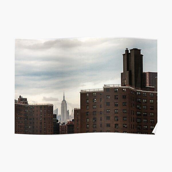 NYC - Chrysler between bricks Poster