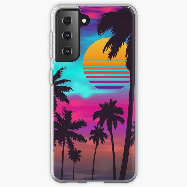 Georgeous Crimson Sunset Synthwave Samsung Galaxy Soft Case