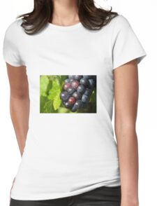 Grapes on vine Womens Fitted T-Shirt