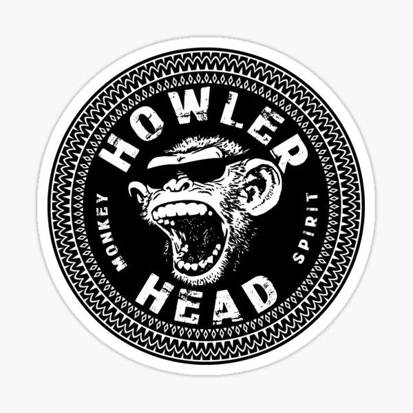 Howler Head Screaming Chimp Hard Liquor Label Design Sticker