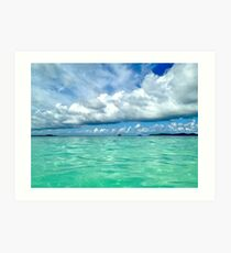 Blue and Green, Tobago Cays, SVG Art Print
