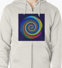 Spiral blur Zipped Hoodie