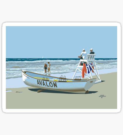 Avalon Beach Patrol Glossy Sticker