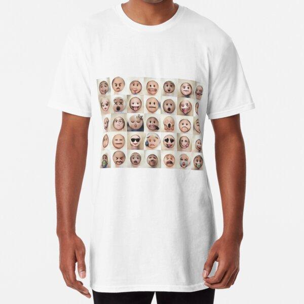 Human Emoji Collage Long T-Shirt