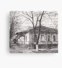 Hand drawn old architecture Canvas Print