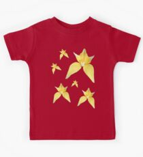 Yellow Cowslip Orchid on Purple Kids Tee