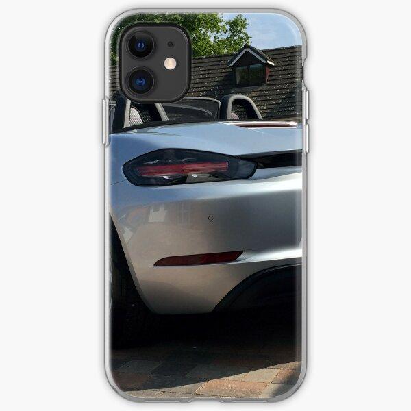 718 Porsche Boxster, rear view. iPhone Soft Case