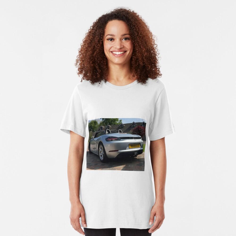 718 Porsche Boxster, rear view. Slim Fit T-Shirt