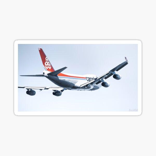 Cargolux 747 Taking Off Sticker
