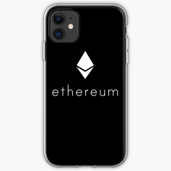 Ethereum Logo white iPhone Soft Case
