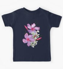 Flowers pink and white Kids Tee