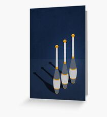 Minimal Juggling Props - Clubs Greeting Card