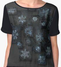 Snowflake collage - Dark crystals 2012-2014 Chiffon Top