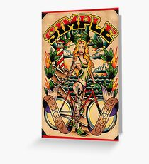 Simple Fixed Gear 01 Greeting Card