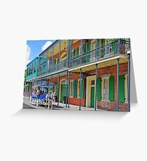 Carriage Ride New Orleans Greeting Card