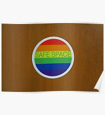 "LGBT ""Safe Space"" sticker  Poster"