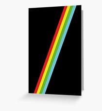 Speccy Lines Stripes Greeting Card