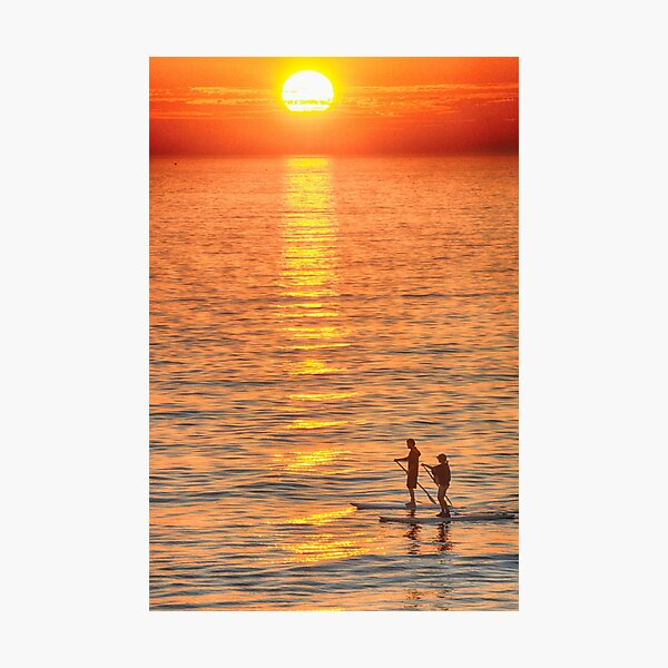 Long Boards at Sunset Photographic Print