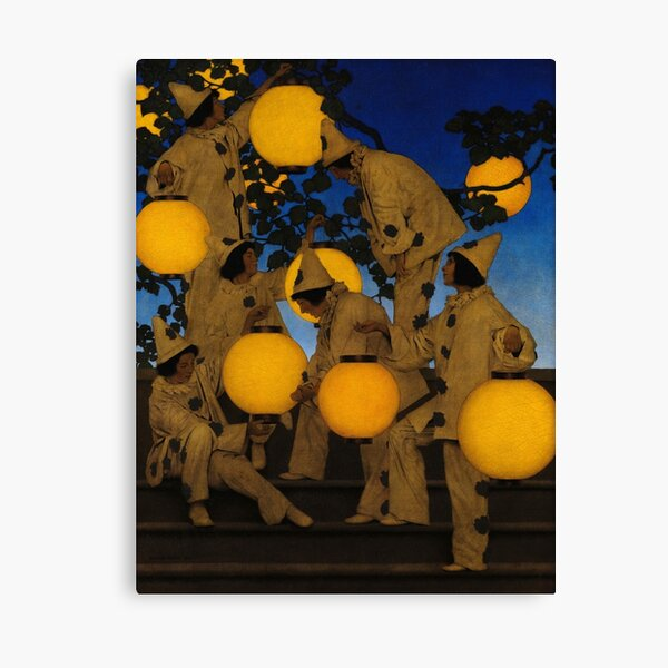 The Lantern Bearers, 1908 by Maxfield Parrish Canvas Print