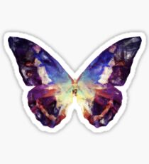 Colorful Painted Butterfly Sticker