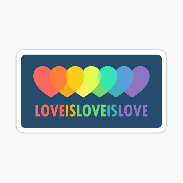 Love Is Love Is Love (Blue) Sticker