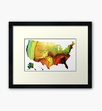 United States of America Map 5 - Colorful USA Framed Print