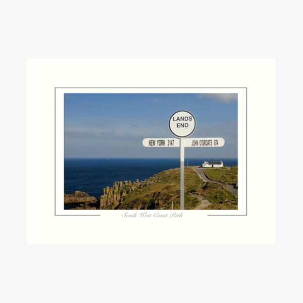 Hiking trail.  South West Coast Path.  Art Print
