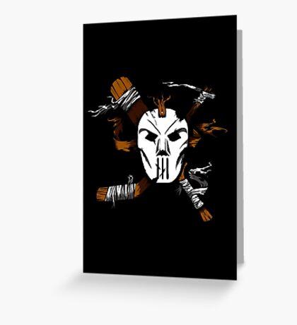 Masked Chaos Greeting Card