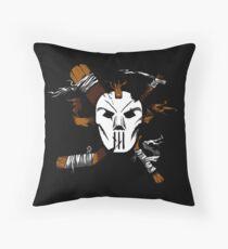 Masked Chaos Throw Pillow