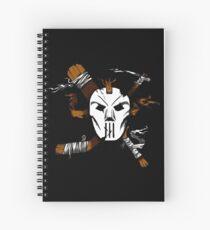 Masked Chaos Spiral Notebook