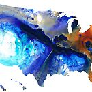 United States of America Map 7 - Colorful USA by Sharon Cummings