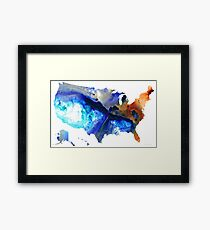United States of America Map 7 - Colorful USA Framed Print