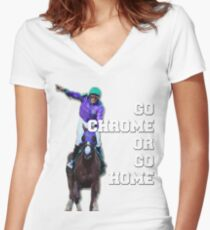 Go Chrome or Go Home Shirt mit V-Ausschnitt